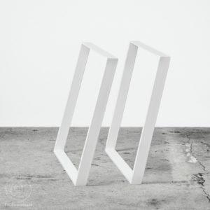 Skrå kvalitet bordben plankeborde hvid spiseborde DIY