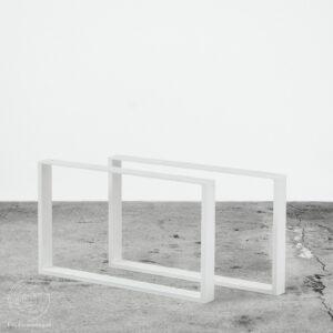 Sofabordsben til sofabord i hvid metal. Nordisk design